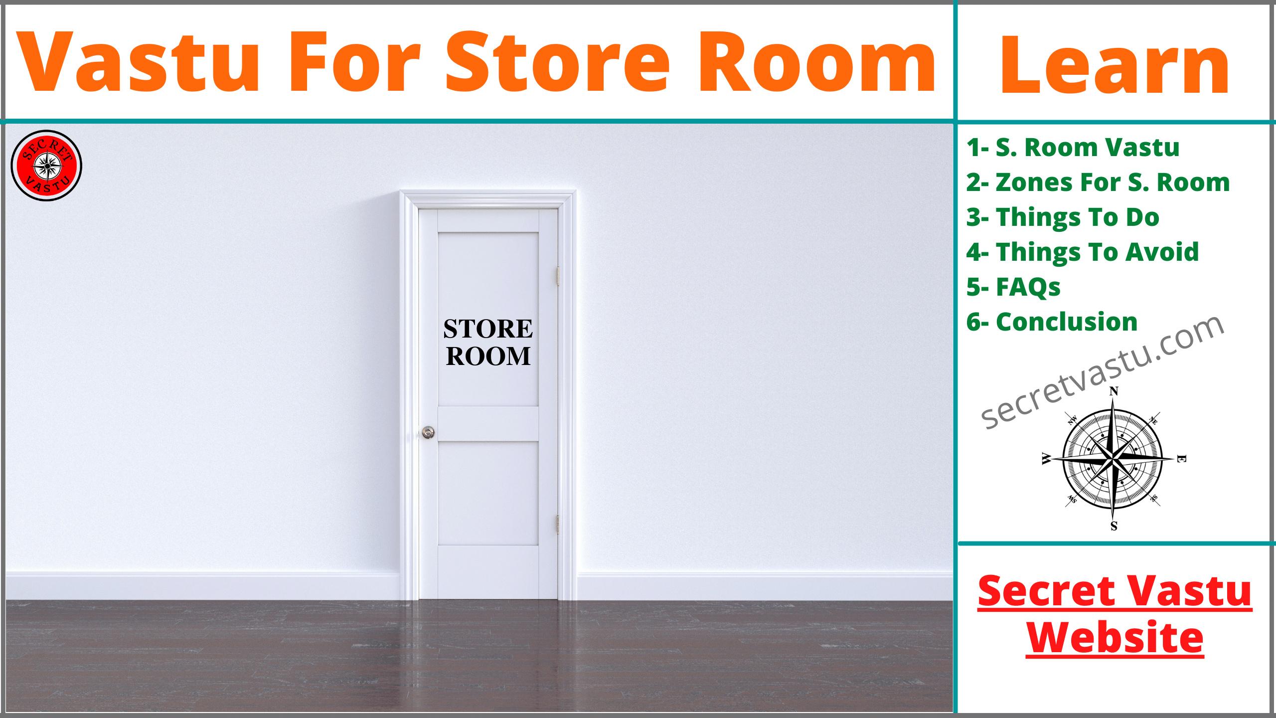 store room vastu