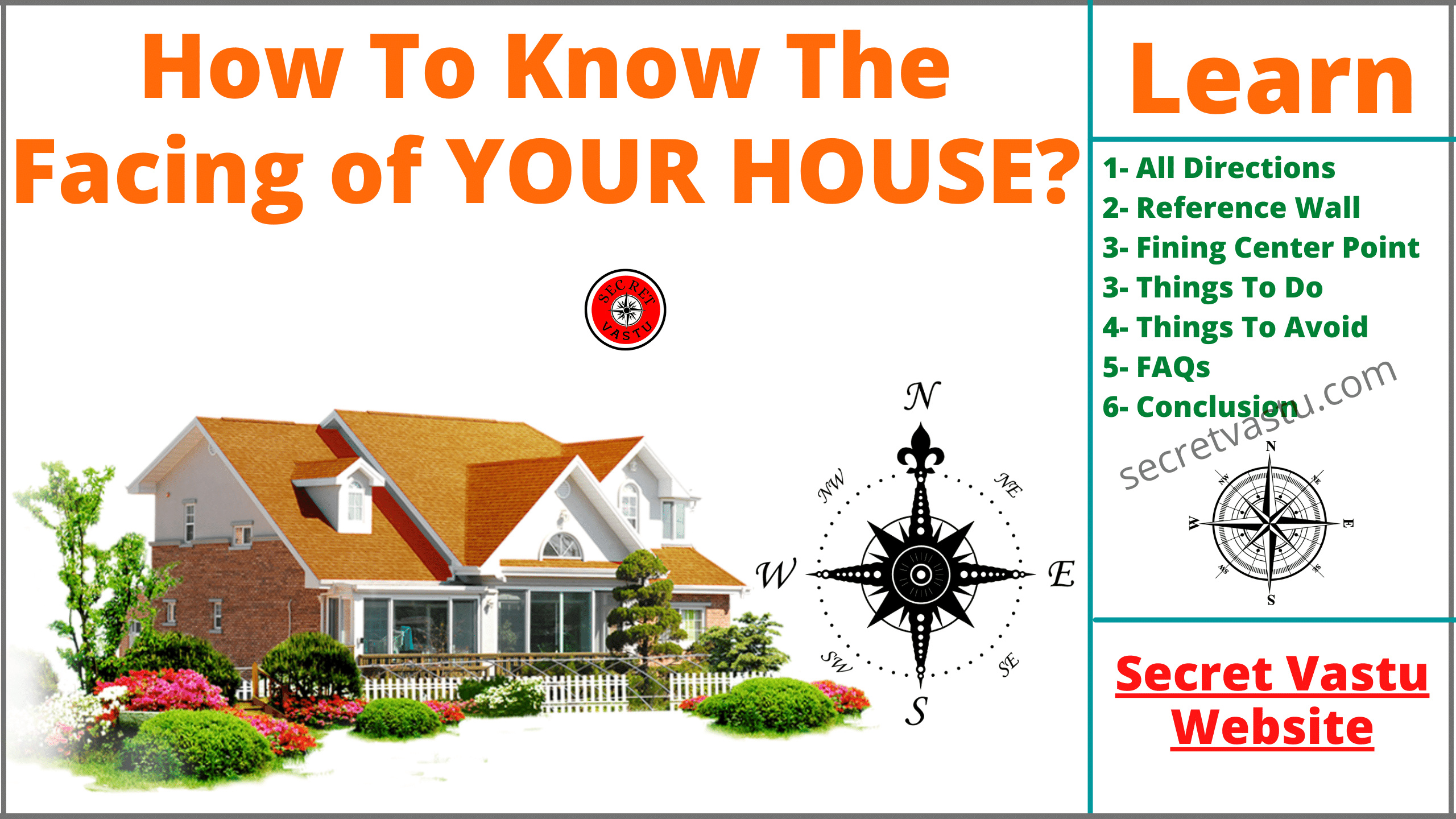 compass and house facing direction